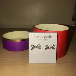kate spade Jewelry - Kate Spade Silver Stud Bow Earrings